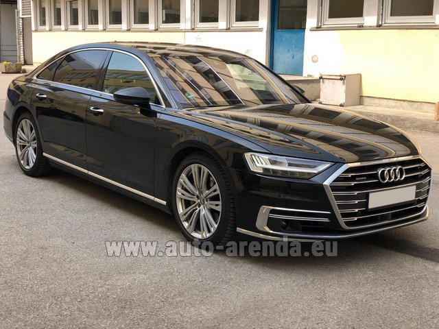 Rental Audi A8 Long 50 TDI Quattro in France