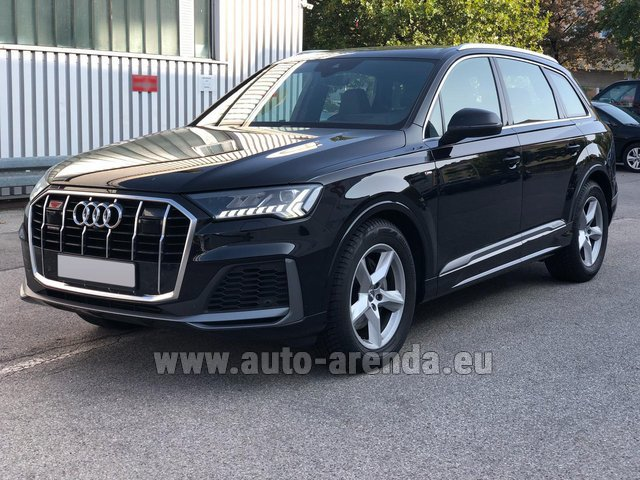 Rental Audi Q7 50 TDI Quattro Equipment S-Line (5 seats) in France