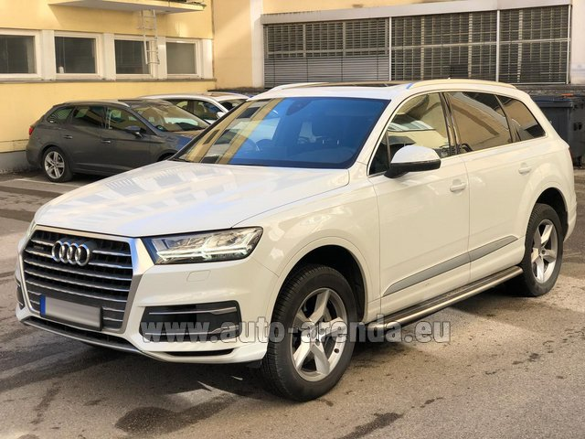 Rental Audi Q7 50 TDI Quattro White in France