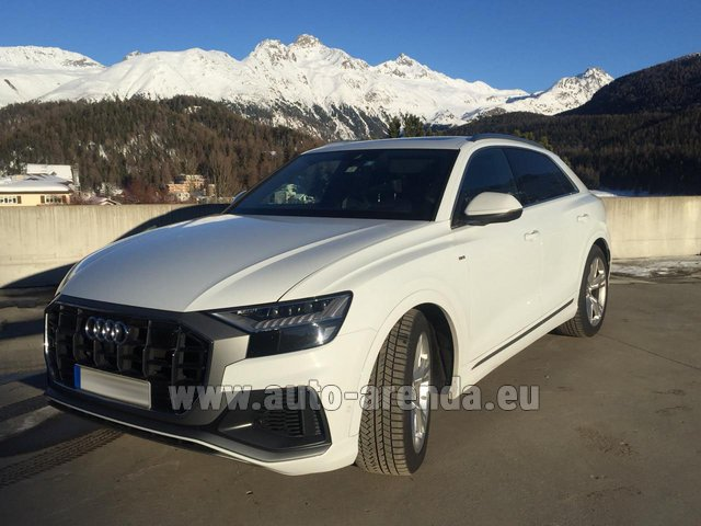 Rental Audi Q8 50 TDI Quattro in France