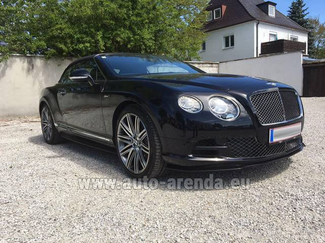 Rental Bentley Continental GTC V12-Speed in Europe