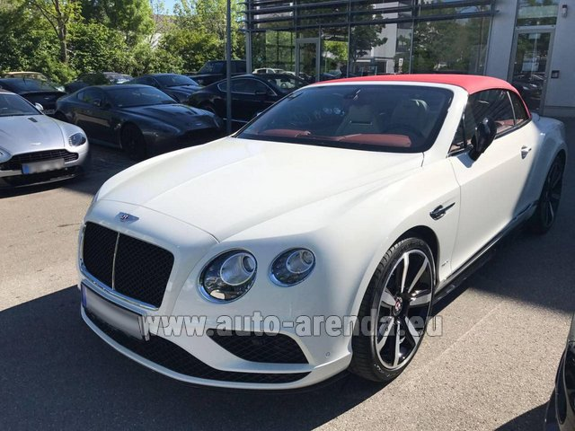Rental Bentley Continental GTC V8 S in Monaco