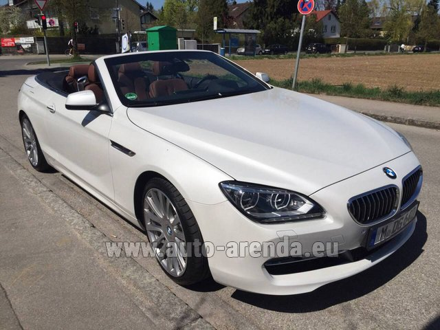 Rental BMW 640 Cabrio Equipment M-Sportpaket in Europe