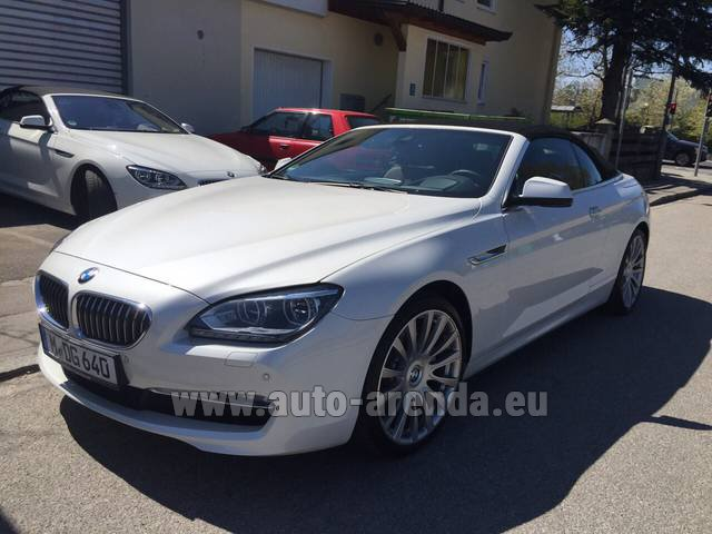Rental BMW 640d Cabrio Equipment M-Sportpaket in Europe