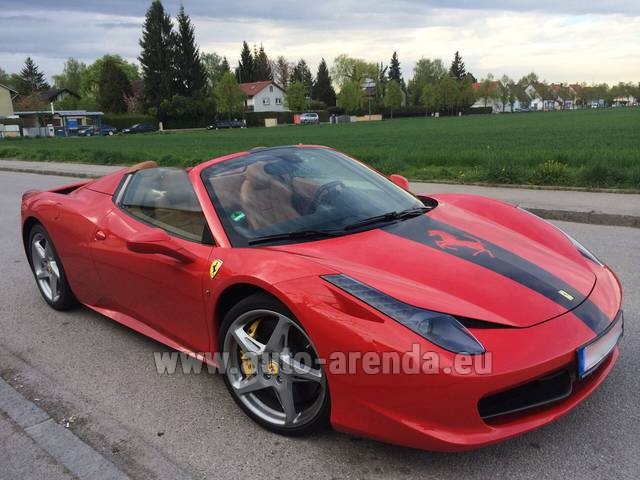 Rental Ferrari 458 Italia Spider Cabrio in Spain