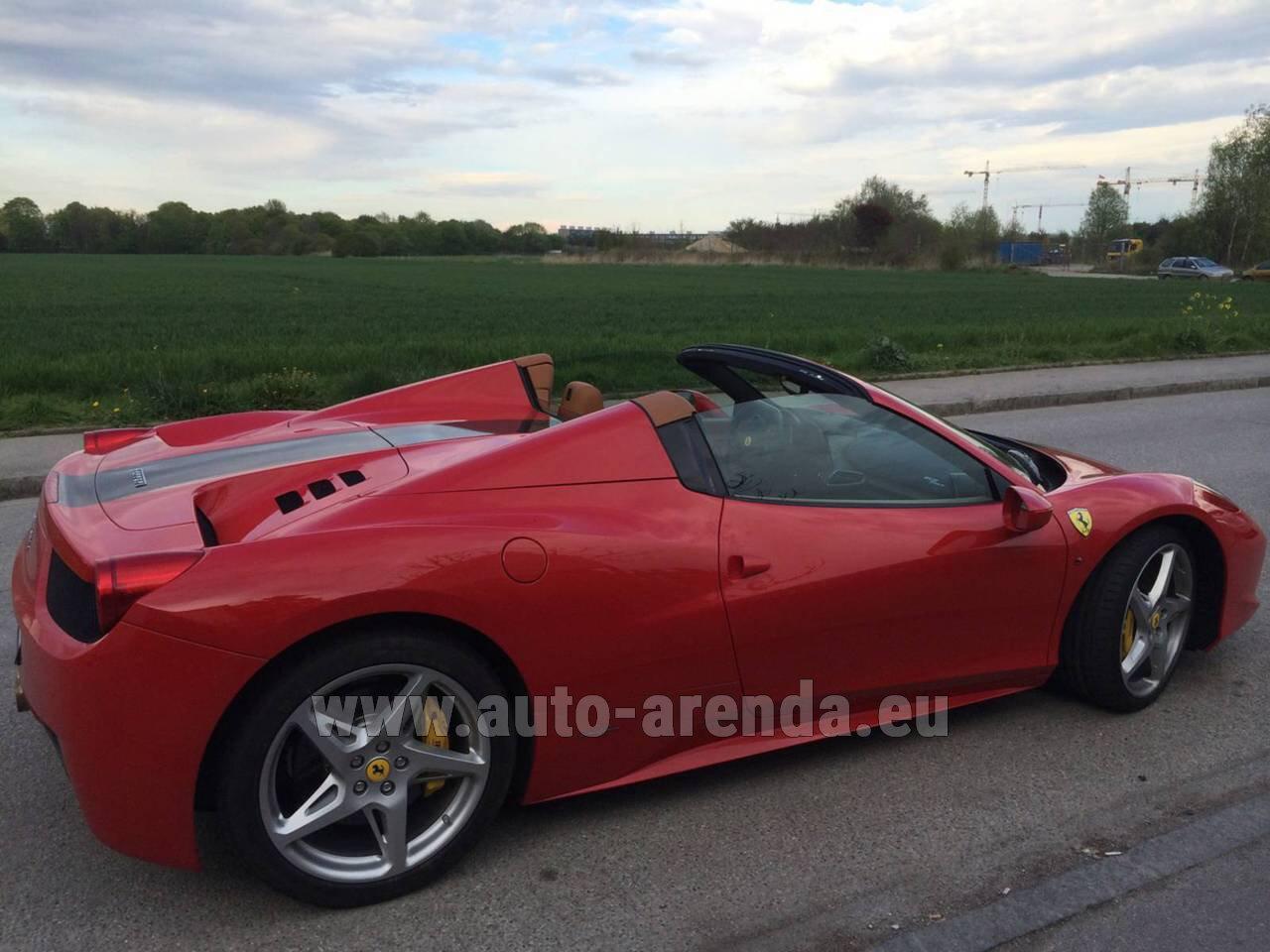 rent the ferrari 458 italia spider cabrio car in italy. Black Bedroom Furniture Sets. Home Design Ideas