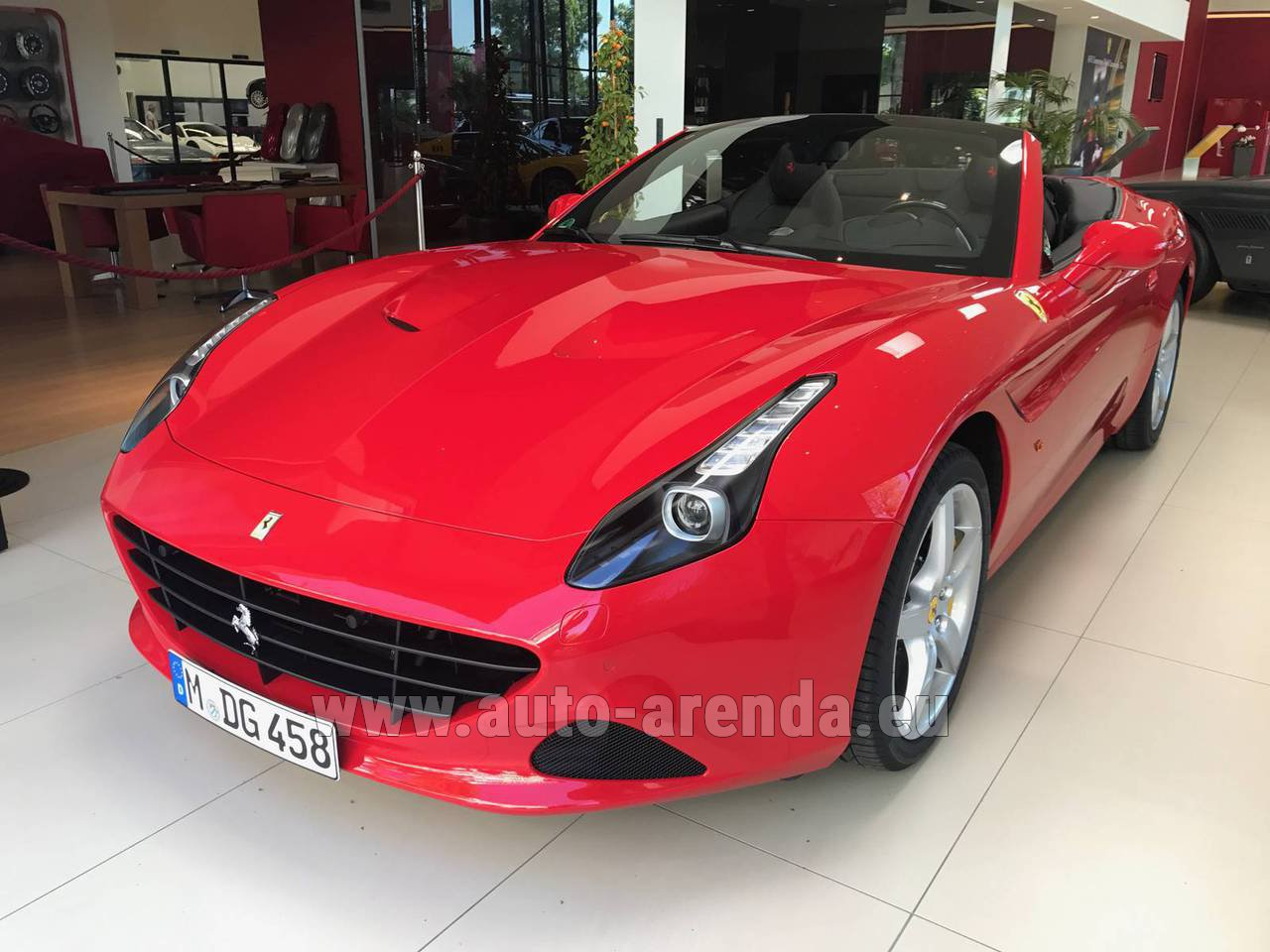 Rent The Ferrari California T Convertible Red Car In Germany
