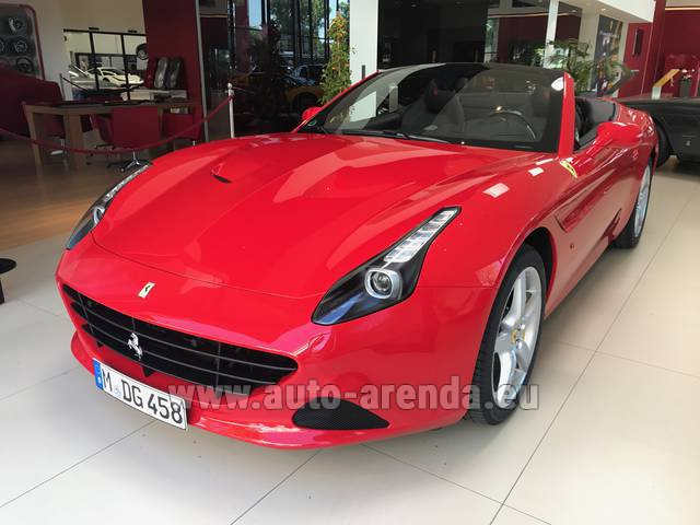 Rental Ferrari California T Convertible Red in Europe