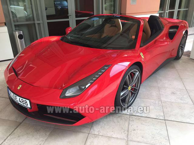 Rental Ferrari 488 GTB Spider Cabrio in Europe