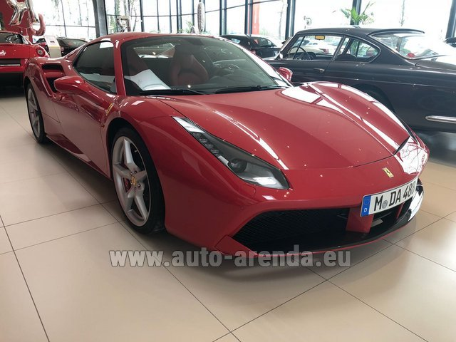 Rental Ferrari 488 Spider in Europe