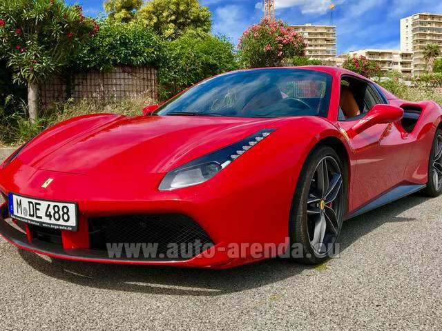 Rental Ferrari 488 in Europe