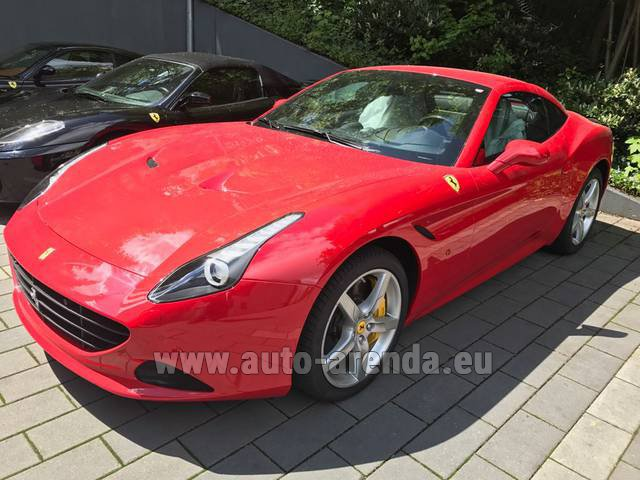 Rental Ferrari California T Cabrio (Red) in Monaco