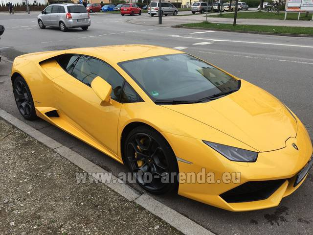 Rental Lamborghini Huracan LP 610-4 Yellow in The Czech Republic