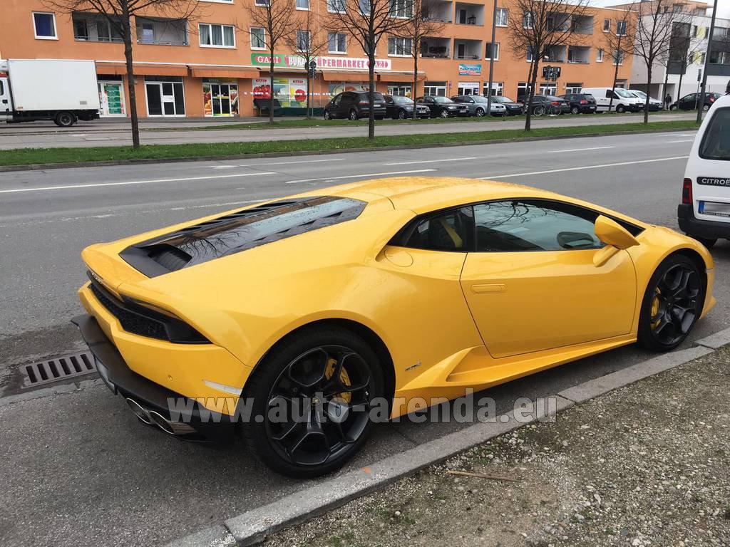 Germany Lamborghini Huracan LP 610,4 Yellow rental
