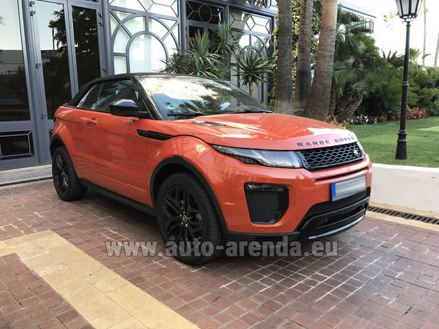 Rental Land Rover Range Rover Evoque HSE Cabrio SD4 in Monaco