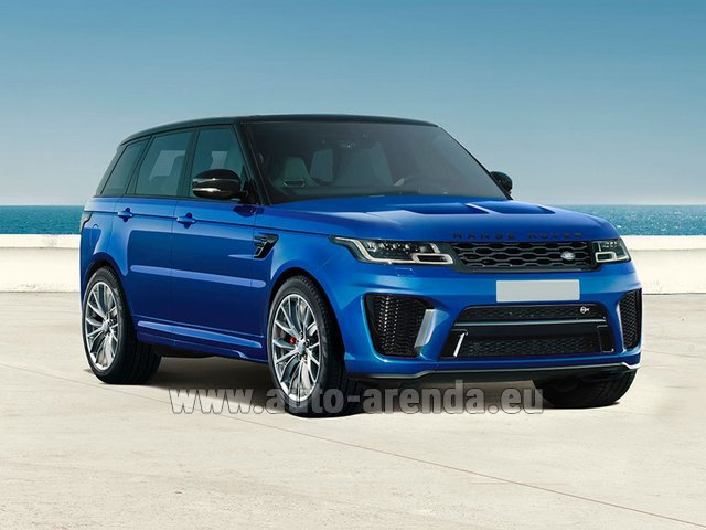 Rental Land Rover Range Rover Sport SVR V8 in The Czech Republic