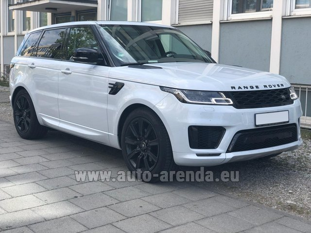 Rental Land Rover Range Rover Sport White in French Riviera Cote d'Azur