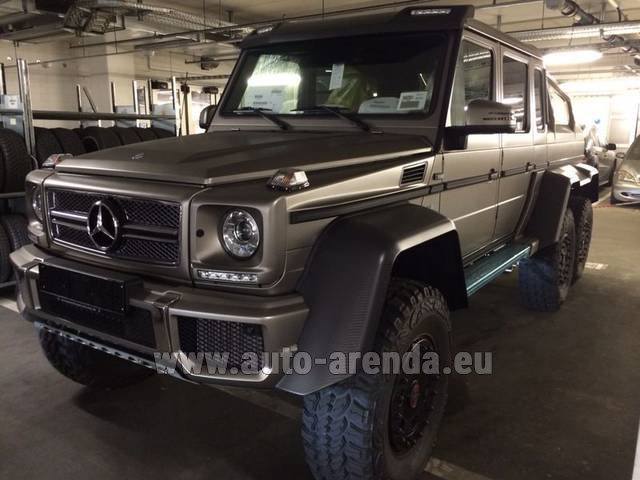 Rental Mercedes-Benz 6x6 AMG 6.3 in Italy