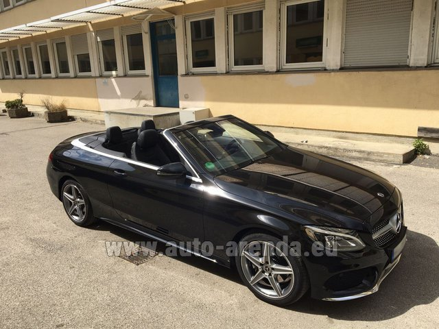 Rental Mercedes-Benz C 180 Cabrio AMG Equipment Black in Monaco