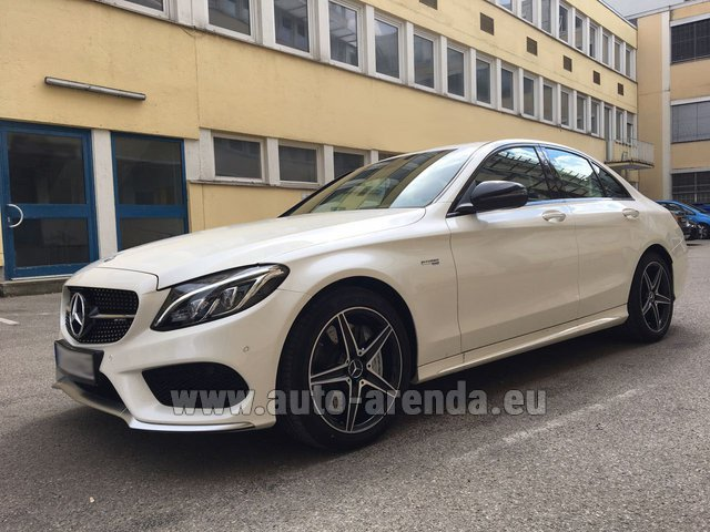Rental Mercedes-Benz C-Class C43 AMG Biturbo 4MATIC White in Italy