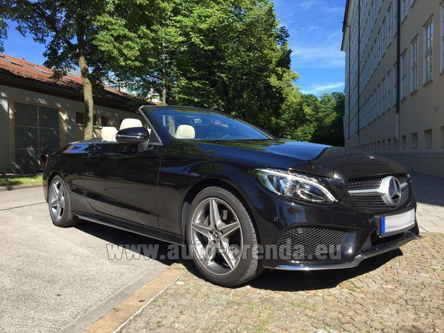 Rental Mercedes-Benz C-Class C 180 Cabrio AMG Equipment Black in Europe