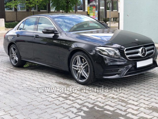 Rental Mercedes-Benz E 450 4MATIC saloon AMG equipment in France