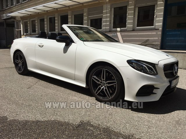 Rental Mercedes-Benz E-Class E 200 Cabrio in Monaco