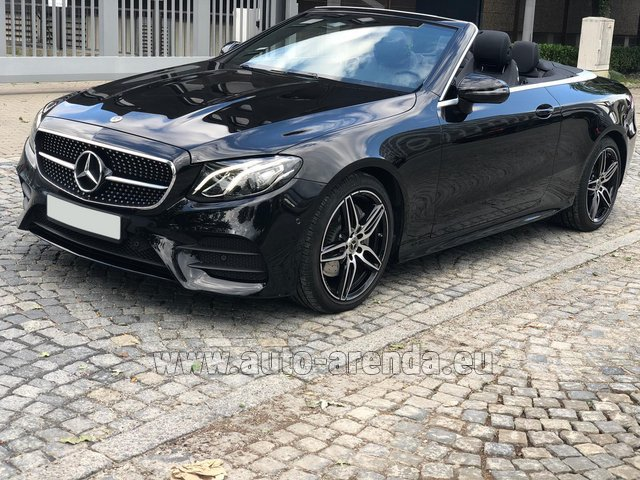 Rental Mercedes-Benz E-Class E220d Cabriolet AMG equipment in Monaco