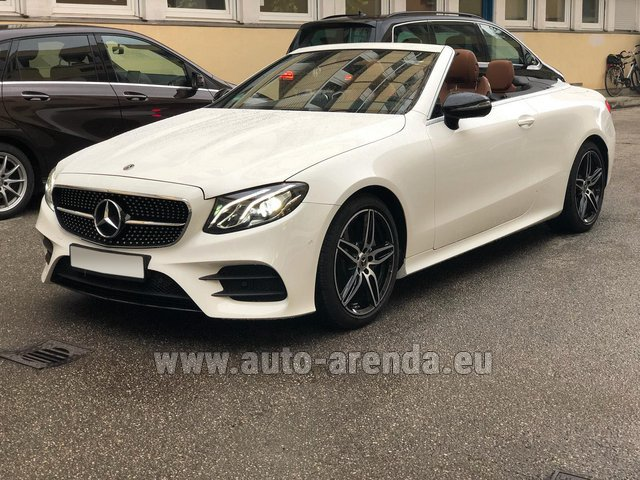 Rental Mercedes-Benz E-Class E300d Cabriolet diesel AMG equipment in Monaco