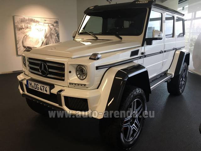 Rental Mercedes-Benz G 500 4x4 White in Italy