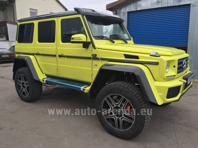 Rental Mercedes-Benz G 500 4x4 Yellow in Italy