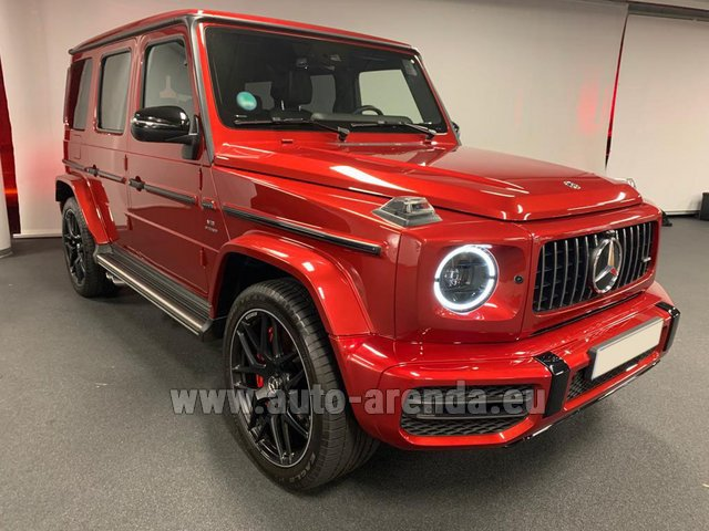 Rental Mercedes-Benz G 63 AMG biturbo in Italy