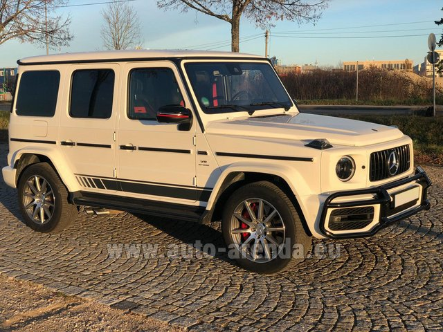 Rental Mercedes-Benz G 63 AMG White in Italy