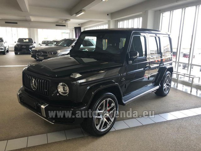 Rental Mercedes-Benz G63 AMG V8 biturbo in Germany
