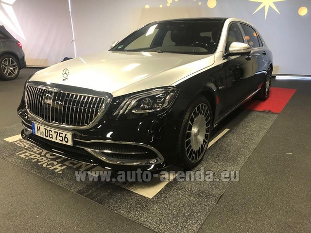 Rental Maybach S 560 4MATIC AMG equipment Metallic and Black in Europe