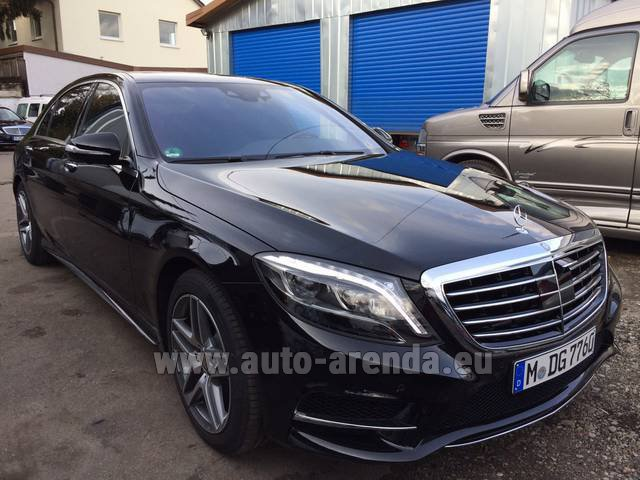 Rental Mercedes-Benz S 350 L BlueTEC AMG Black in Italy