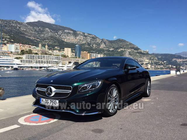 Rental Mercedes-Benz S 500 Coupe 4Matic 7G-TRONIC AMG in Spain