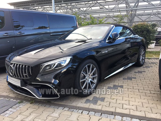 Rental Mercedes-Benz S 63 AMG Cabriolet V8 BITURBO 4MATIC+ in Europe