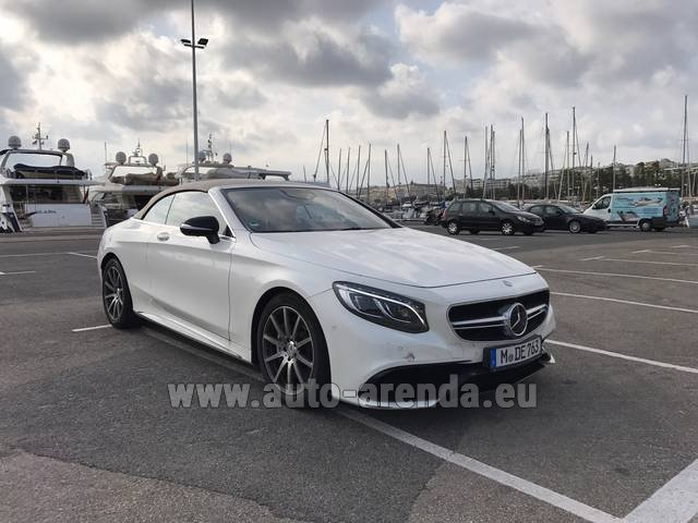 Rental Mercedes-Benz S 63 Cabrio AMG in Monaco