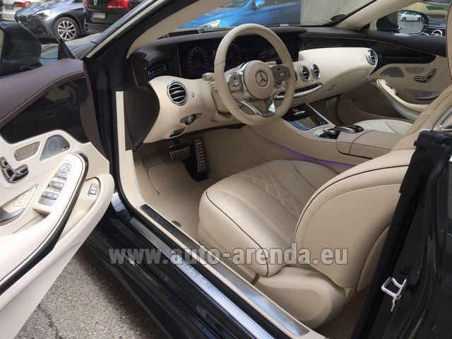 Rental Mercedes-Benz S-Class S 560 4MATIC Coupe in Italy
