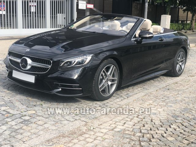 Rental Mercedes-Benz S-Class S 560 Cabriolet 4Matic AMG equipment in Luxembourg