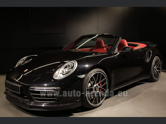 Rental Porsche 911 991 Turbo Cabrio S LED Carbon Sitzbelüftung in Monaco