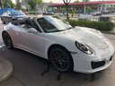 Rent-a-car Porsche 911 Carrera Cabrio White in French Riviera Cote d'Azur, photo 1