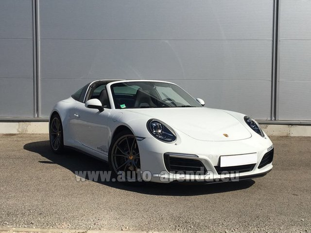 Rental Porsche 911 Targa 4S White in Monaco