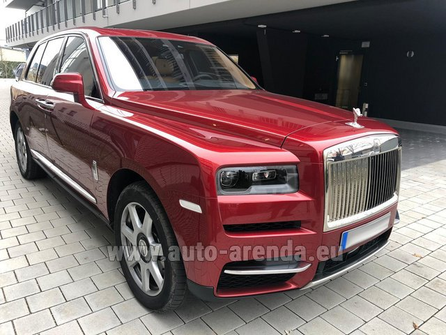 Rental Rolls-Royce Cullinan in Europe
