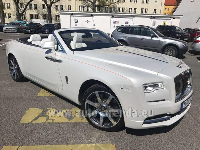 Rental Rolls-Royce Dawn (White) in Monaco