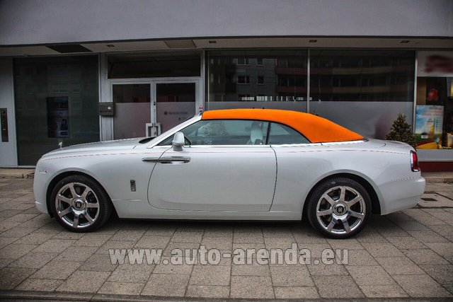 Rental Rolls-Royce Dawn White in Europe