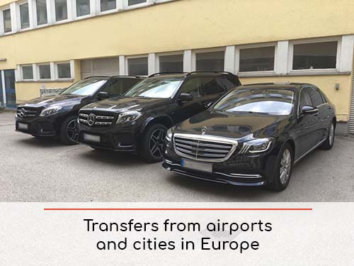 Transfers from airports and cities in Europe and Europe | Car rental with driver